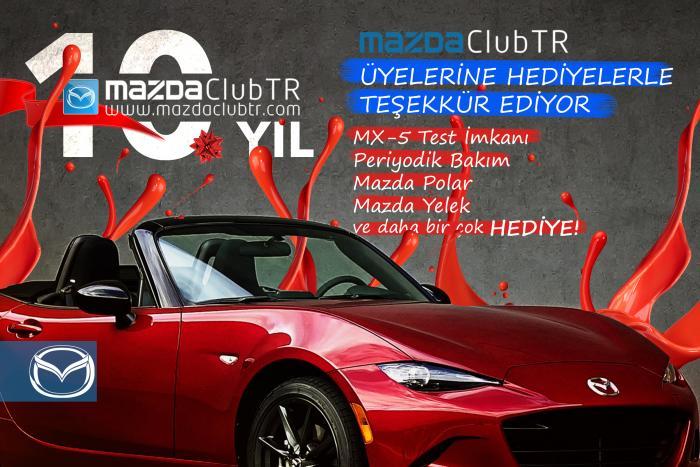 MazdaClubTR 10. Yıl Hediyeleri Nisan Ayı Kazananları
