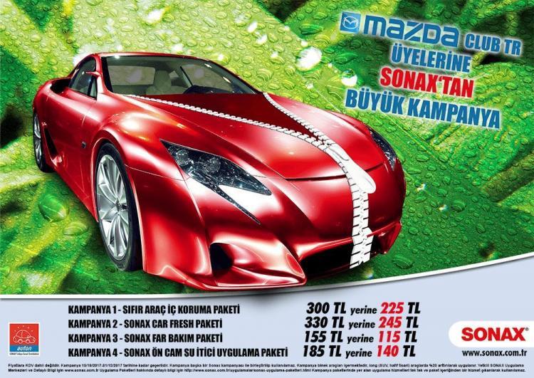 SONAX - MazdaClubTR Kampanyası