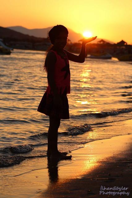 Ayvalık Badavut Sahilinde Gün Batımı